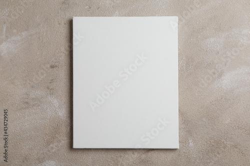 Obraz na plátně Blank canvas on brown stone background, space for text