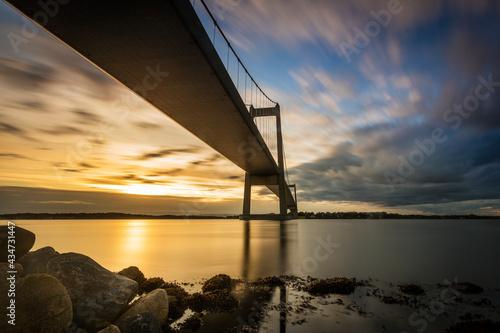 Fotografie, Obraz Little Belt Bridge linking Jutland and Fyn in Denmark