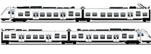Swedish Train Model X61 Illustration Vector