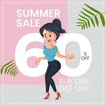 Summer Sale Buy One Get One Banner Design.