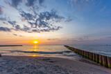 Fototapeta Fototapety z morzem do Twojej sypialni - Morze bałtyckie Zachód słóńca Sunset