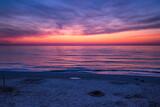 Fototapeta Na sufit - Zachód słońca Morze Bałtyckie Kolorowe niebo