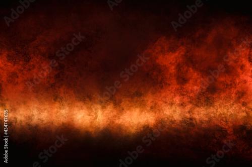 Fotografiet Image of the fiery arena. Futuristic concept.