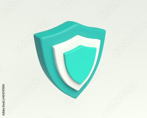 Simple Shield icon Fototapet