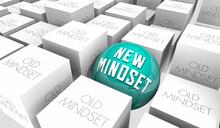 New Mindset Change Your Outlook Ideas Perspective Vs Old 3d Illustration
