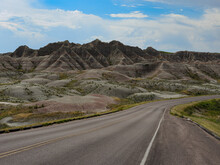 View Of Buttes In Badlands National Park