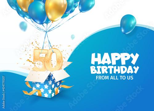 Canvastavla Celebrating 50th years birthday vector illustration