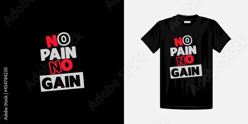 Obraz na płótnie No pain no gain typography t-shirt design