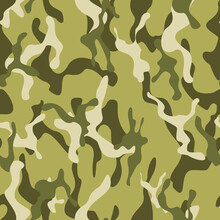 Light Green Camouflage, Modern Background, Repeat Print. Disguise