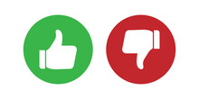 Like And Dislike SVG Icon Set For Website And Mobile Applications.