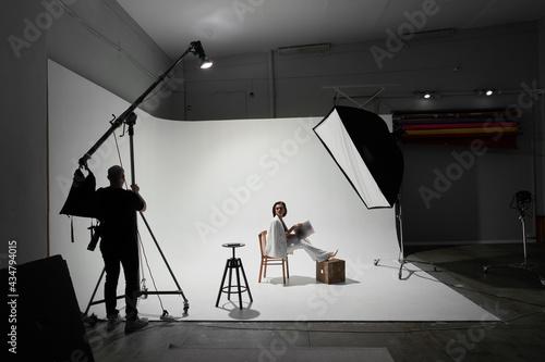 Canvas Print Fashion photography in a photo studio