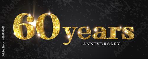 Billede på lærred 60 years anniversary vector icon, symbol, logo
