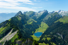"""Bergsee In Der Schweiz (Appenzeller Alpen, """"Hoher Kasten"""", Sämtisersee)"""
