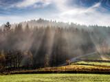 Fototapeta Rainbow - Beskid Makowski