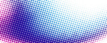 Halftone Background With Color Transition From Cerise To Blue Through Purple