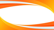 Abstract Background With Orange Wavy Shape