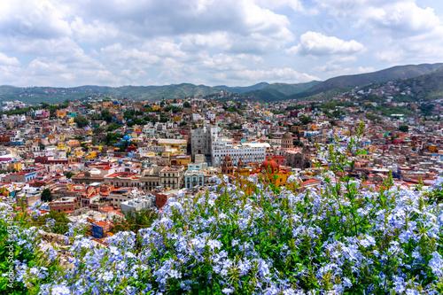 Fotografie, Obraz Guanajuato city view from the observation deck of Monumento Al Pipila