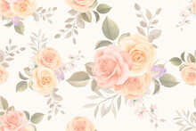 Seamless Colorful Floral Pattern Background Design