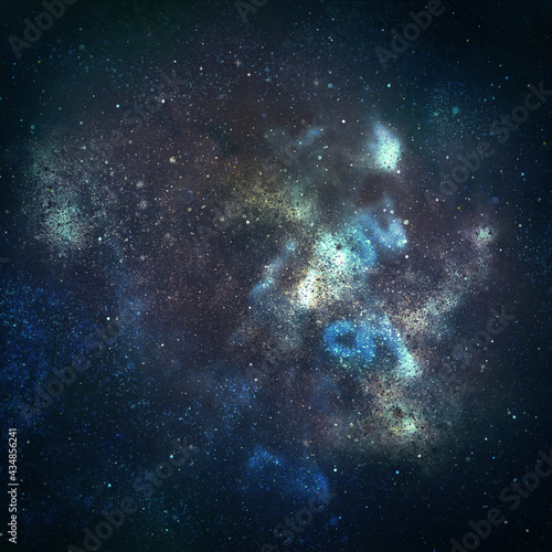 Night sky with stars as background. Universe Fototapet