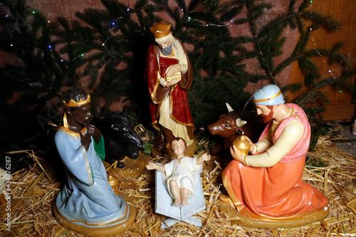 Canvastavla Nativity scene
