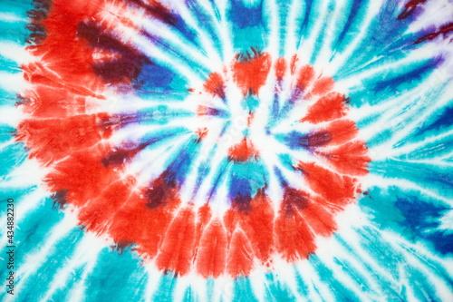 Fotografia spiral tie dye blue pastel color beautiful background.