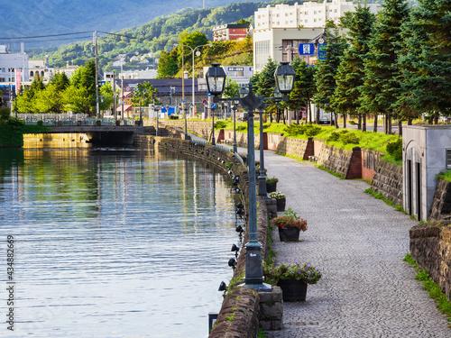 Obraz na płótnie 北海道 小樽運河 朝景