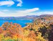 秋田県 鹿角市 紅葉の十和田湖と発荷峠