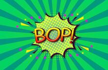 BOP Comic Speech 3d Text Style Effect High Resolution