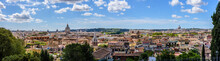 A Panorama Of The Center Of Rome Facing Vatican City, Taken From Castel Sant'Angelo