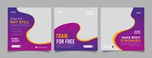 Fitness Social Media Post Banner Template