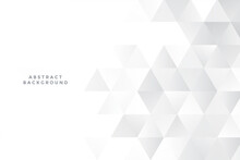 White Triangles Background With Text Space
