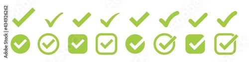 Fotografia check mark vector icon