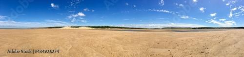 Obraz na płótnie Etendue de sable à marée basse Bretagne