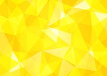 黄色のポリゴン背景イラスト 幾何学模様 Polygonal Background Yellow
