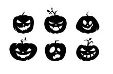 Crazy Pumpkins On White Background
