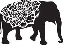 Elephant Mandala Design