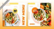 Food Social Media Post Template Free Vector