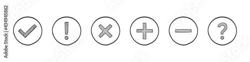Carta da parati Check mark icons
