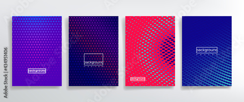 Fotografie, Obraz Decorative point cover templates vector kit