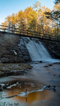 Waterfall In Autumn, Pulaski Park, New England