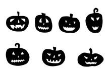 Vector Halloween Pumpkin Set