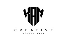 KAM Letter Creative Logo With Shield