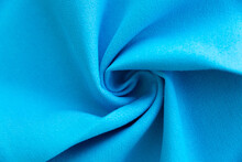Dense Light Blue Fabric Coiled Texture
