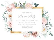 Silver Sage And Blush Pink Flowers Vector Design Frame