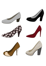 Women Shoes Collection Clipart Icons For Collages And Scrapbooking Svg Inkscape