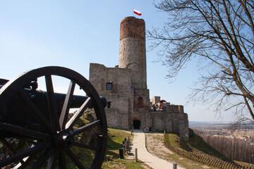 Zamek w Chęcinach koło Kielc, Góry Świętokrzyskie, Polska