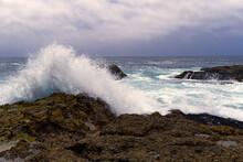 Point Lobos - Wave Splashing Off The Rocks