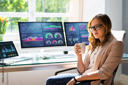 Analyst Woman Looking