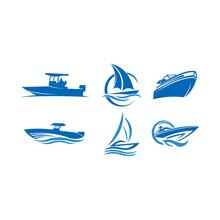 Sailing Boat Ship Sea Inspiration Logo Vector