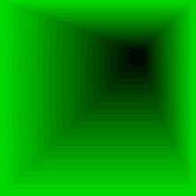 Acid Green Tunnel. Vector Tunnel Bottomless.